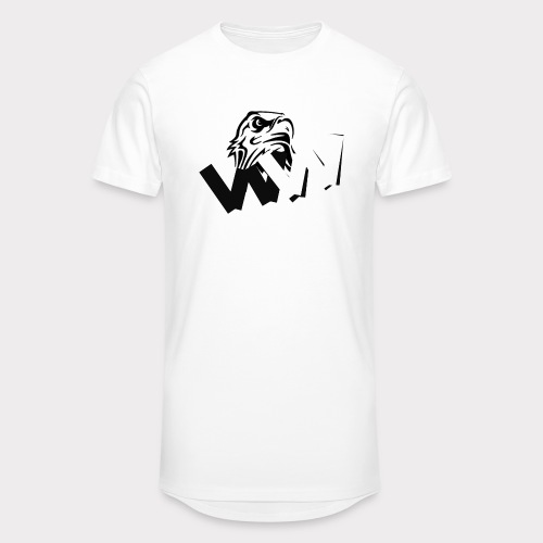 White and Black W with eagle - Men's Long Body Urban Tee