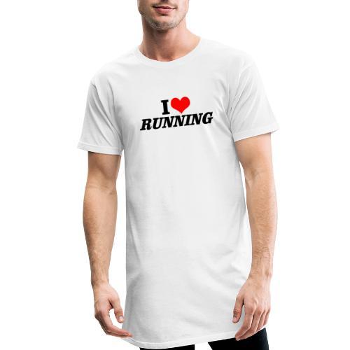 I love running - Männer Urban Longshirt