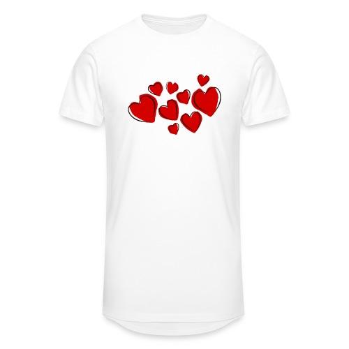 hearts herzen - Männer Urban Longshirt