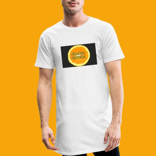 Orange_Logo_Black - Men's Long Body Urban Tee