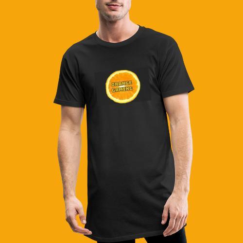 Orange_Logo_Black - Men's Long Body Urban Tee