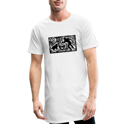 Teufel mit Katze - Männer Urban Longshirt