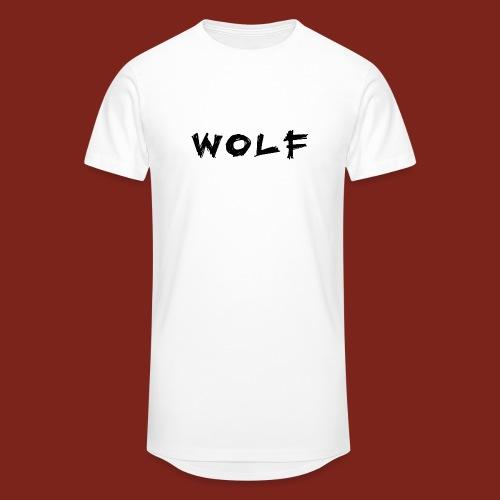 Wolf Font png - Mannen Urban longshirt