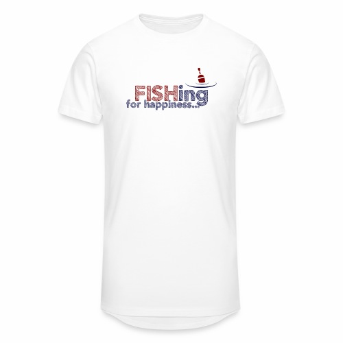 Fishing For Happiness - Men's Long Body Urban Tee