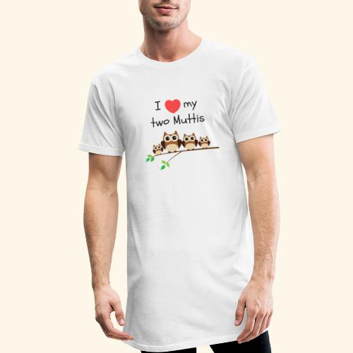 I love my two Muttis - T-shirt long Homme