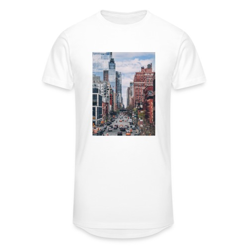 NEW YORK - Premium long fit shirt - Mannen Urban longshirt