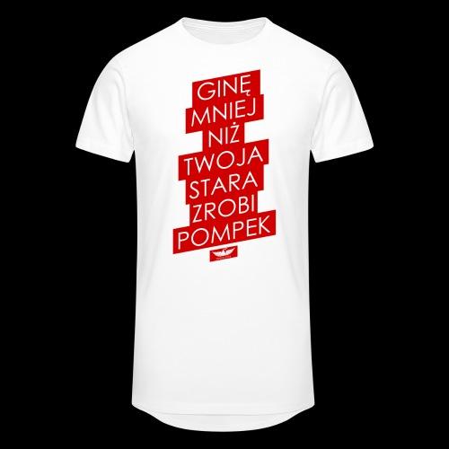 gine mniej - Długa koszulka męska urban style