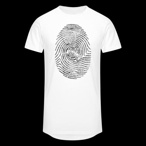 Tintenfisch Fingerabdruck schwarz - Männer Urban Longshirt