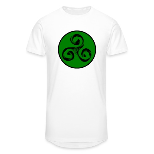 Triskel and Spiral - Camiseta urbana para hombre
