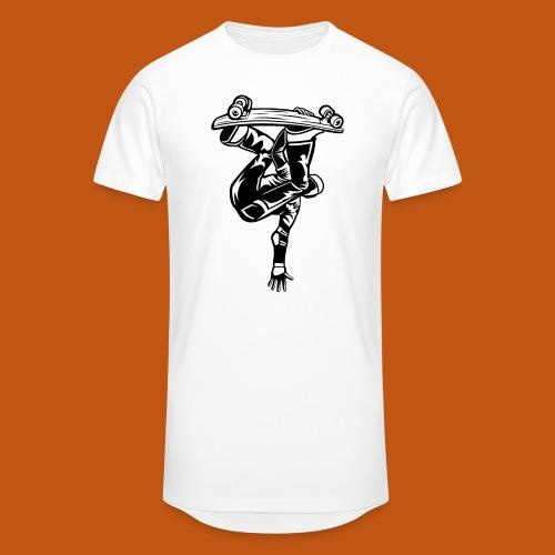Skater / Skateboarder 03_schwarz - Männer Urban Longshirt