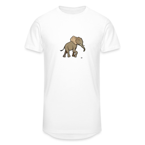 African Elephant - Men's Long Body Urban Tee