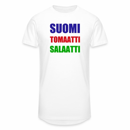 SUOMI SALAATTI tomater - Urban lang T-skjorte for menn