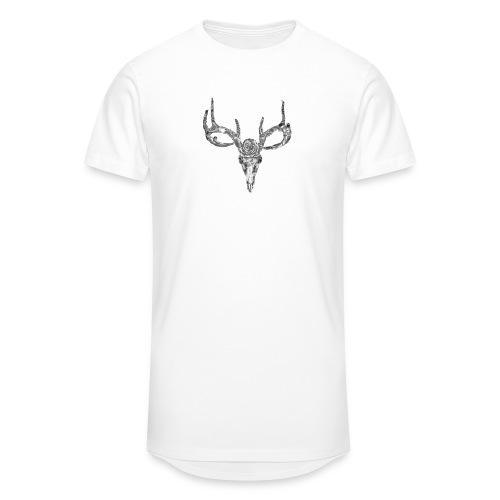 Deer skull with rose - Miesten urbaani pitkäpaita