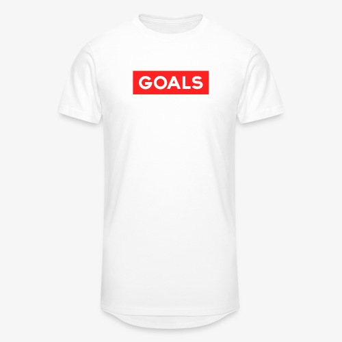 GOALS SQUARE BOX - Men's Long Body Urban Tee