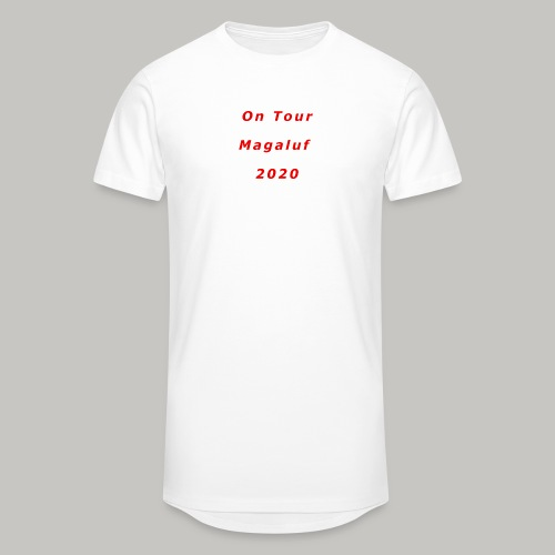 On Tour In Magaluf, 2020 - Printed T Shirt - Men's Long Body Urban Tee