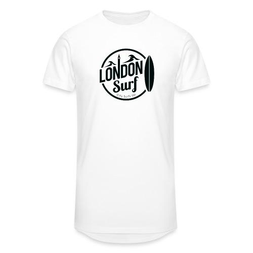 London Surf - Black - Men's Long Body Urban Tee