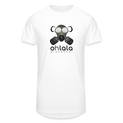 OHLALA PROTECTOR BLK - T-shirt long Homme