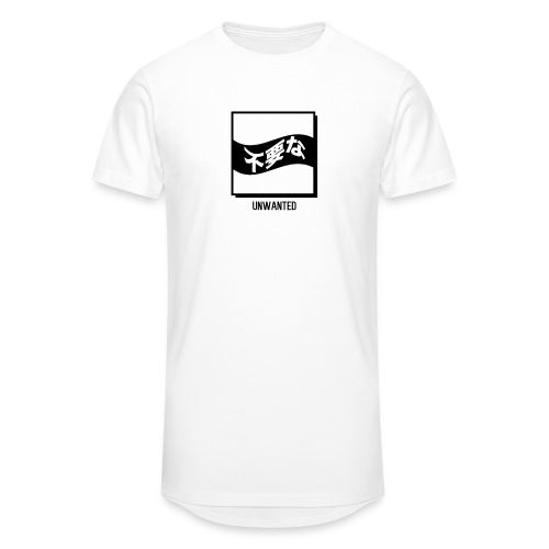 UNWANTED Japanese Tee White - Men's Long Body Urban Tee