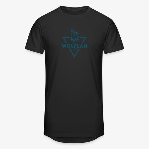 WolfLAN Logo Gray/Blue - Men's Long Body Urban Tee