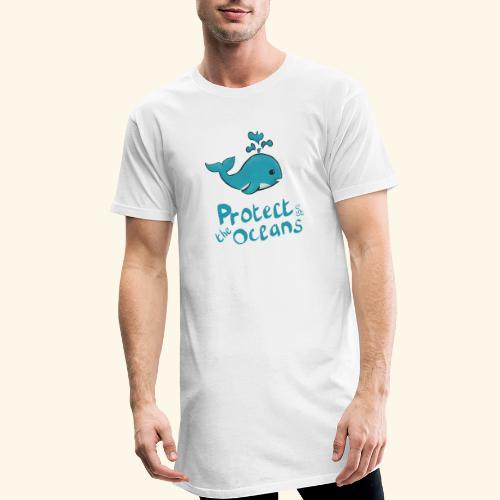 Protèges les océans - T-shirt long Homme