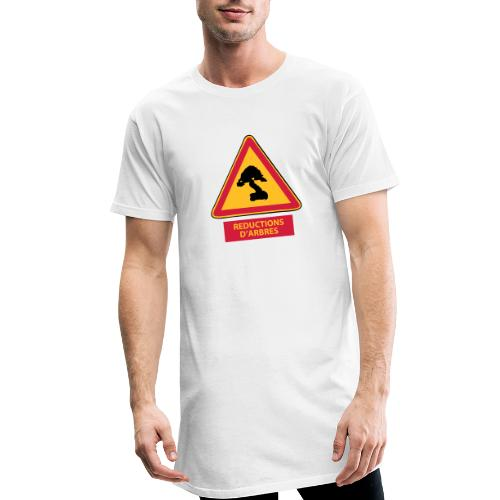 panneau reductions d'arbres - T-shirt long Homme