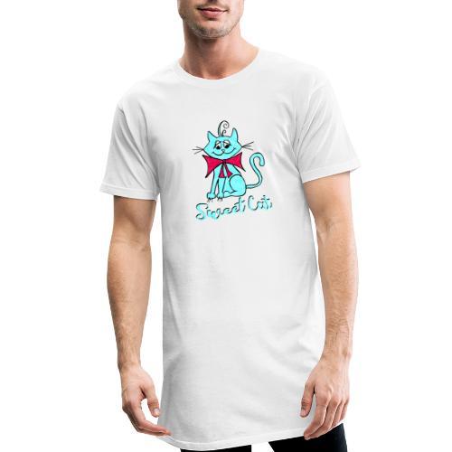 Niedliche kleine blaue Katze, Sweet! - Männer Urban Longshirt