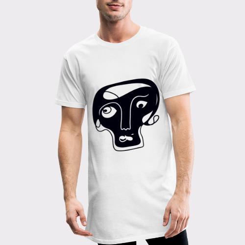 Totenkopf Blau Line Art Stil Geschenkideen - Männer Urban Longshirt