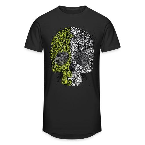 skull grenn white - Männer Urban Longshirt