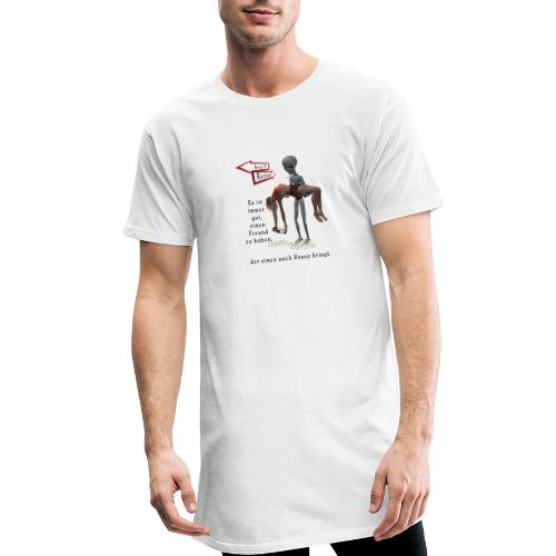 Grey Alien - Männer Urban Longshirt