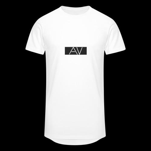 AV White - Men's Long Body Urban Tee