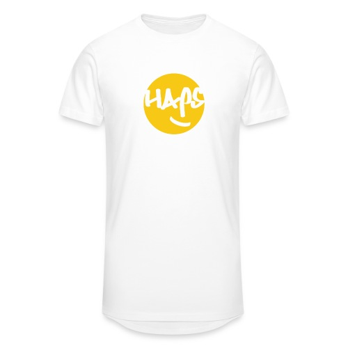 HAPS Yellow Logo - Men's Long Body Urban Tee