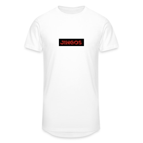 Jingos tee - Black on white - Herre Urban Longshirt
