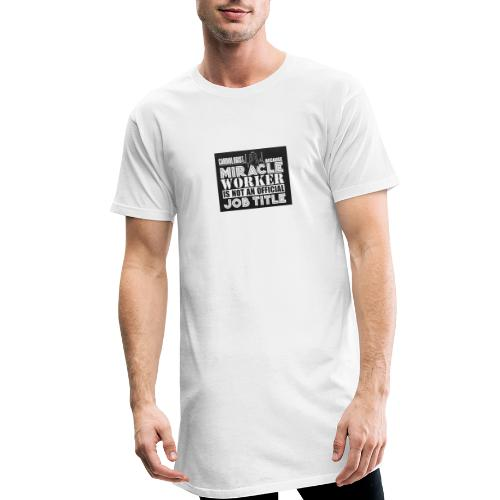 Svart tryck - Urban lång T-shirt herr