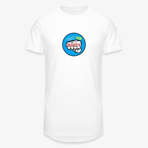 logo fyb bleu ciel - T-shirt long Homme