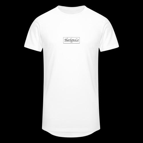 Harlem Co logo White and Black - Men's Long Body Urban Tee