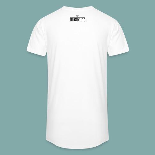 The Herobrine-Logo Flat - Men's Long Body Urban Tee