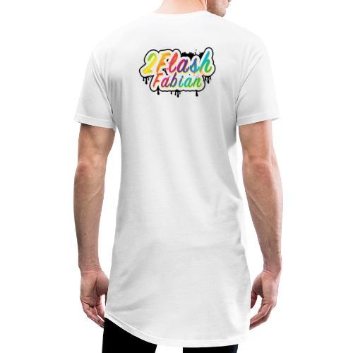2Flash Fabian Backprint weiß - Männer Urban Longshirt