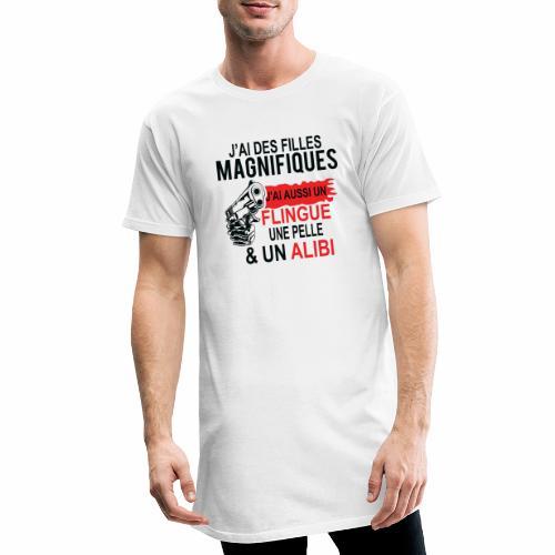 J'AI DEUX FILLES MAGNIFIQUES Best t-shirts 25% - T-shirt long Homme
