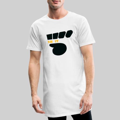 Logo 5 on It noir / jaune - T-shirt long Homme