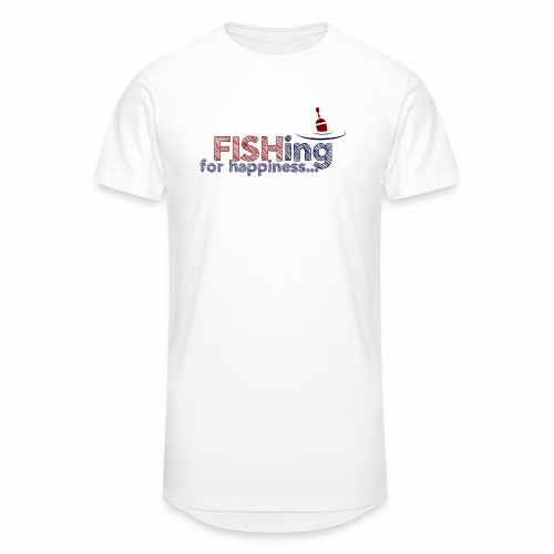 Fishing For Happiness - Men's Long Body Urban Tee