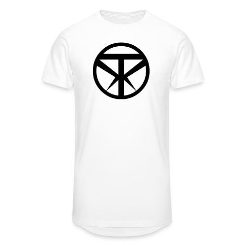 Tridex Logo Black - Men's Long Body Urban Tee