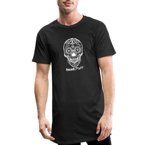 Skull & Logo white - Männer Urban Longshirt