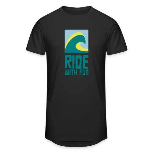 Ride with fun Logo - Männer Urban Longshirt