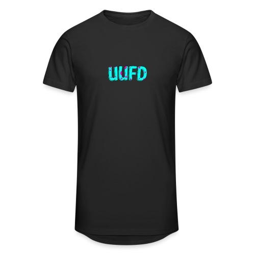 80s logo trui blauw roze png - Mannen Urban longshirt