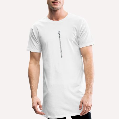 Zipper Funny Surprising T-shirt, Hoodie,Cap Print - Men's Long Body Urban Tee
