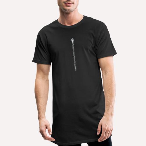 Zipper Funny Surprising T-shirt, Hoodie, Print - Men's Long Body Urban Tee