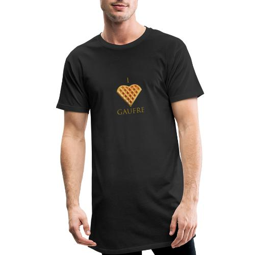 i love gaufre - T-shirt long Homme