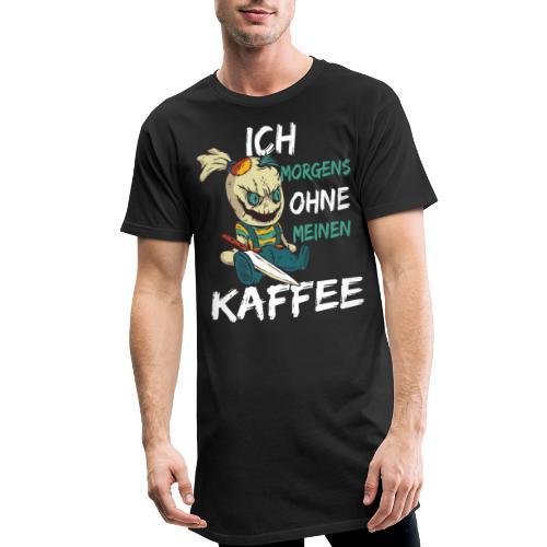 Kaffee lustige Kaffee Sprüche morgens ohne Kaffee - Männer Urban Longshirt