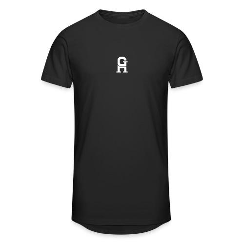 afterlife logo - white - Mannen Urban longshirt