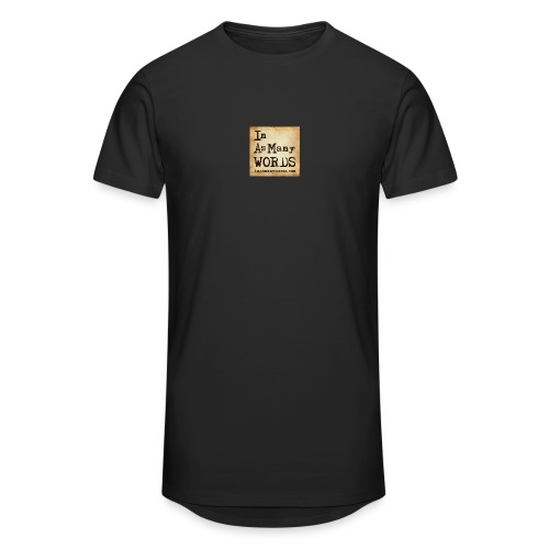 I AM Words LOGO_Brown - Men's Long Body Urban Tee